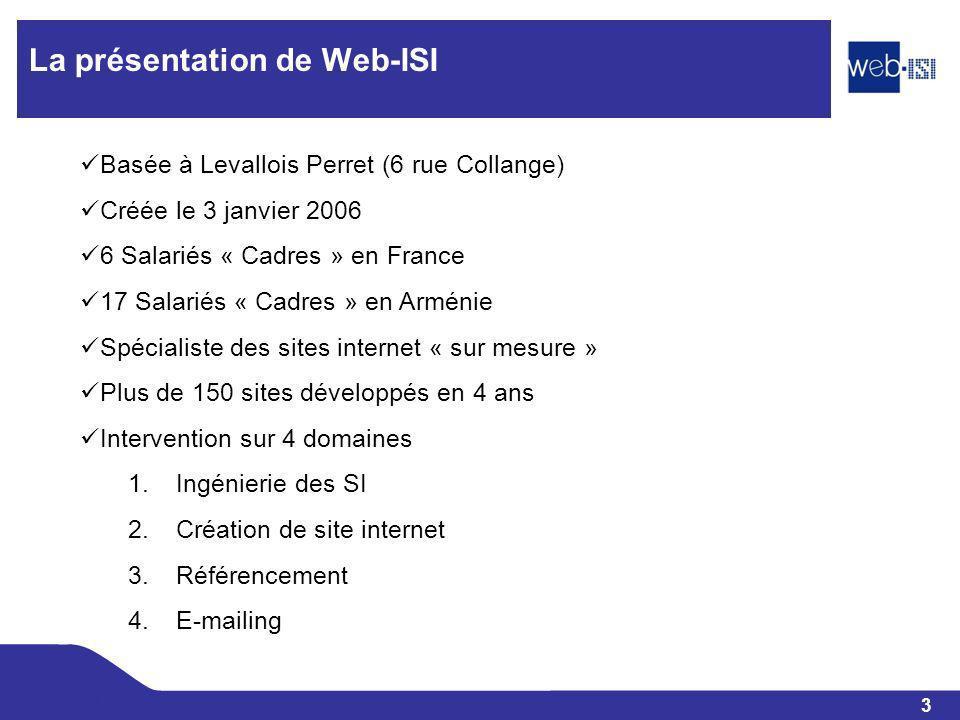 La présentation de Web-ISI