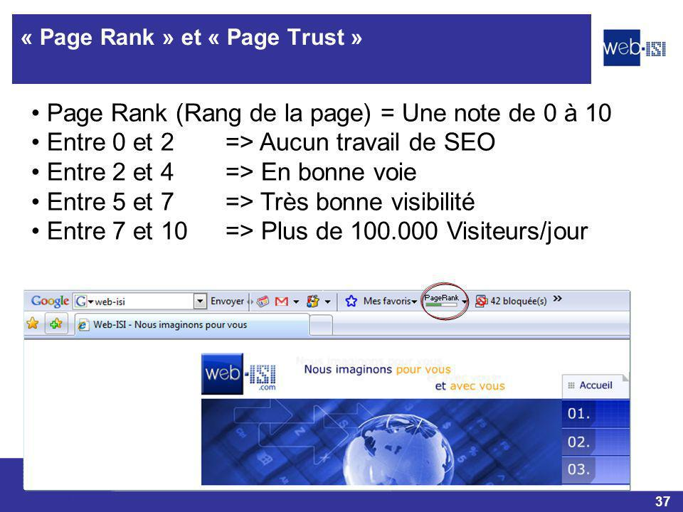 « Page Rank » et « Page Trust »