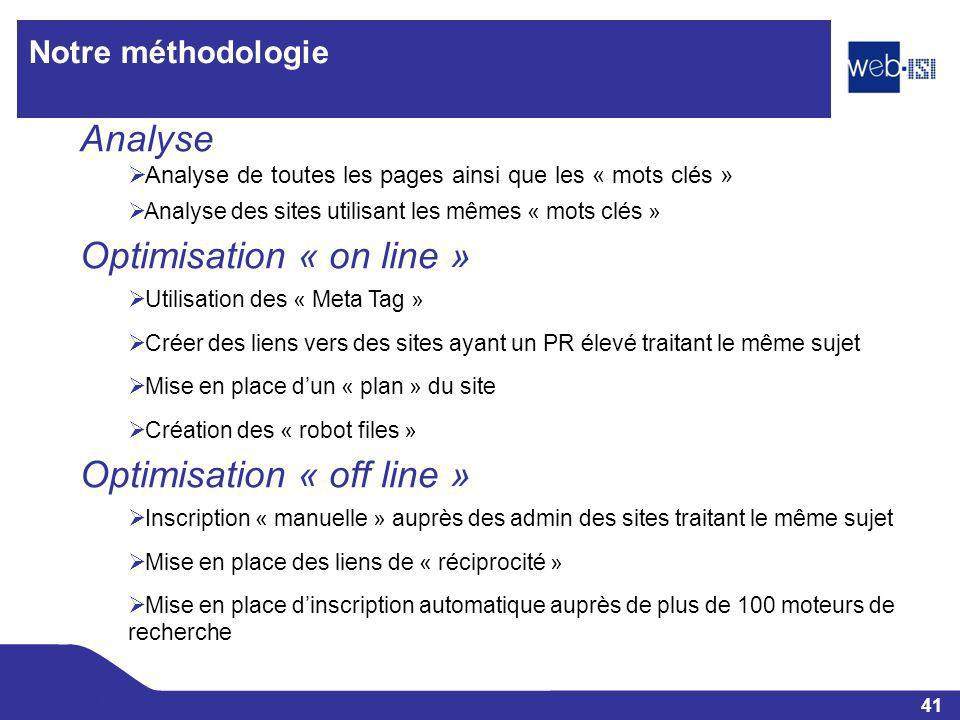 Optimisation « on line »