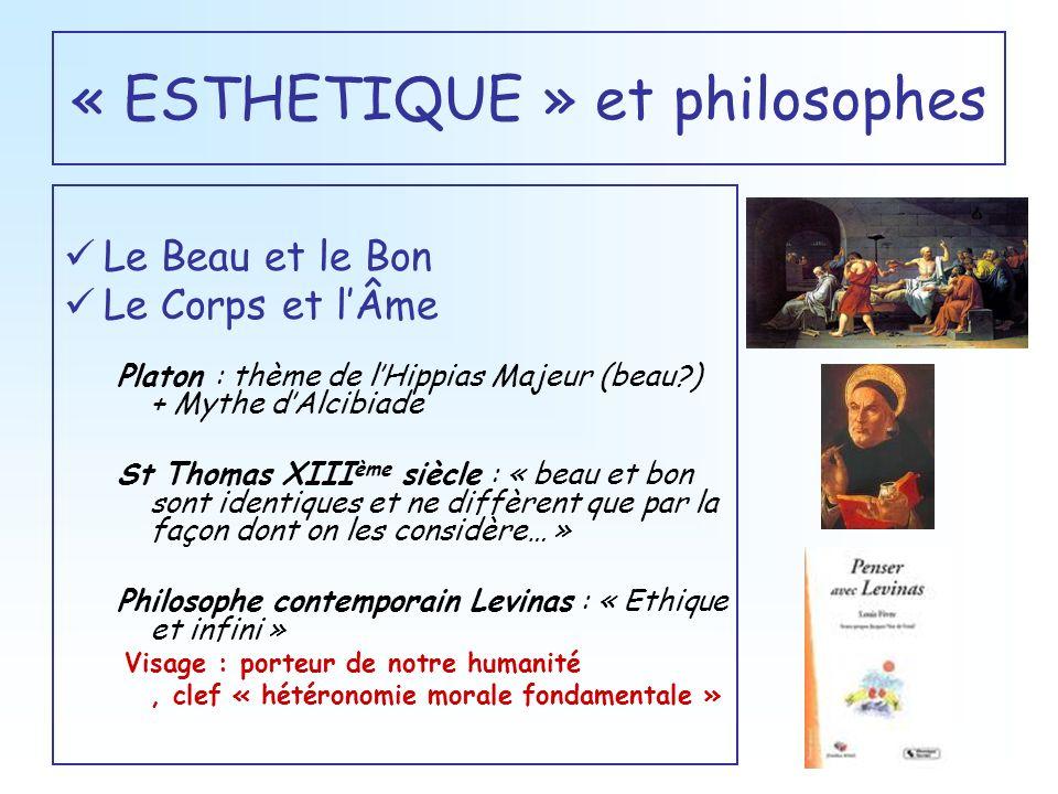« ESTHETIQUE » et philosophes