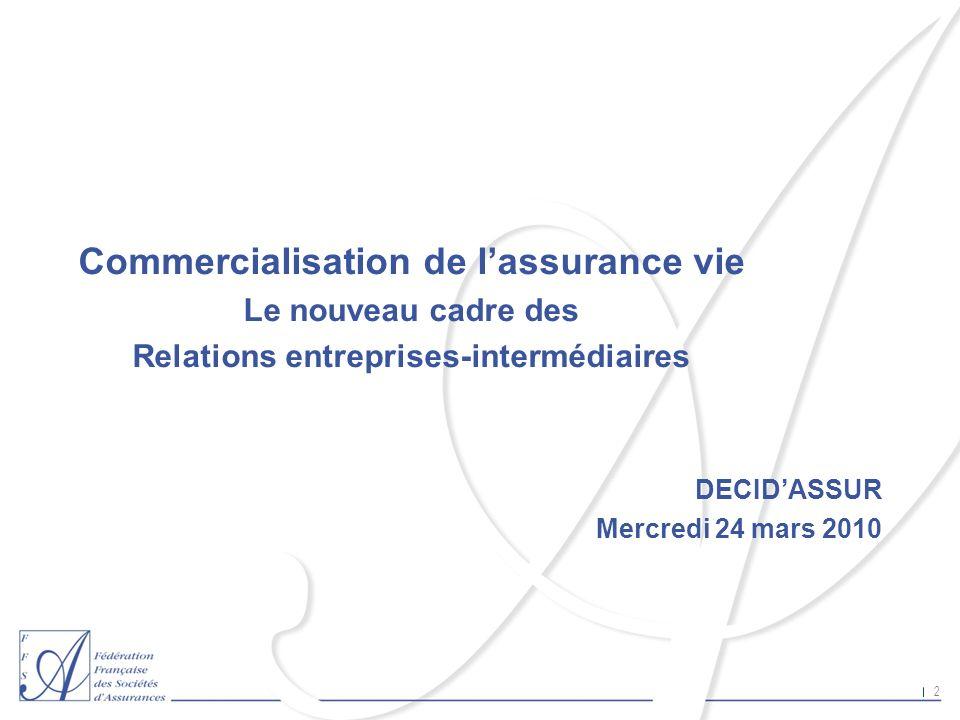 Commercialisation de l'assurance vie
