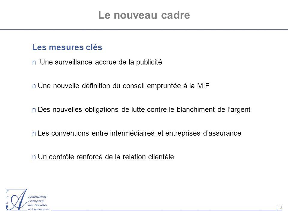 Le nouveau cadre Les mesures clés