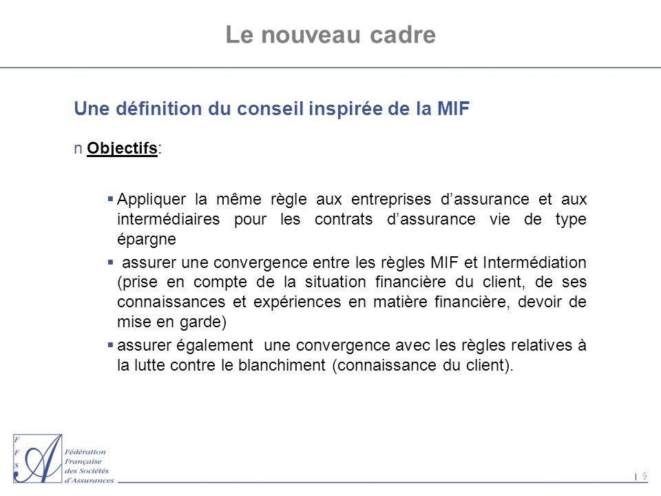 Le nouveau cadre Une définition du conseil inspirée de la MIF