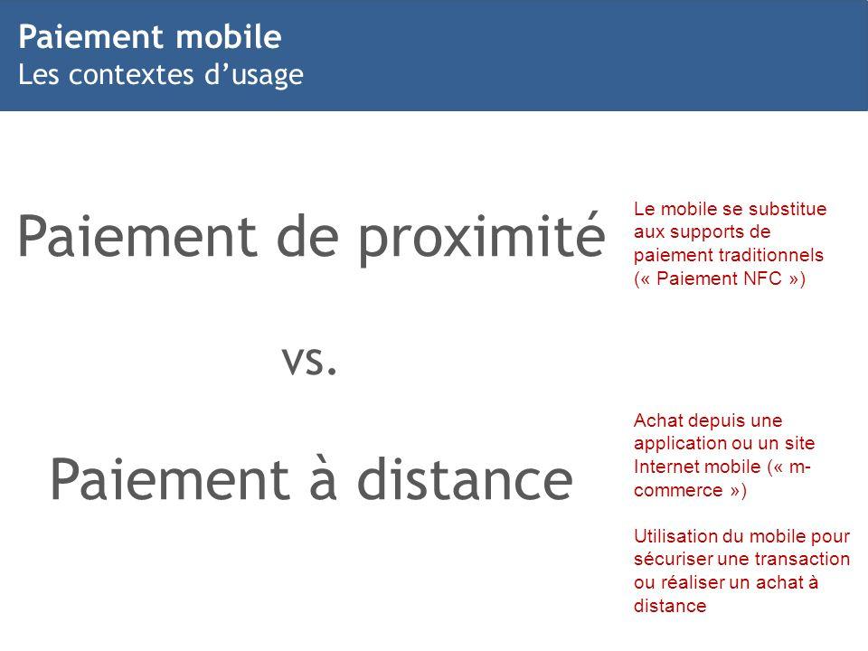 Paiement de proximité Paiement à distance vs. Paiement mobile