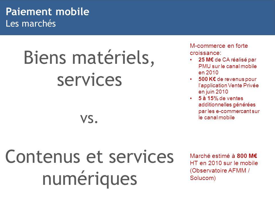Biens matériels, services