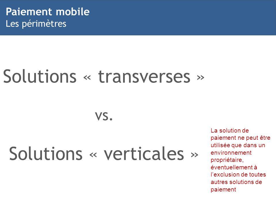 Solutions « transverses »