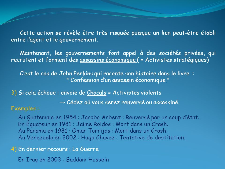 Confession d'un assassin économique