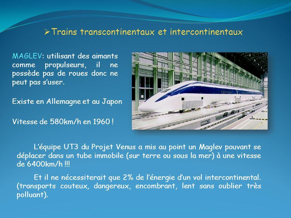 Trains transcontinentaux et intercontinentaux