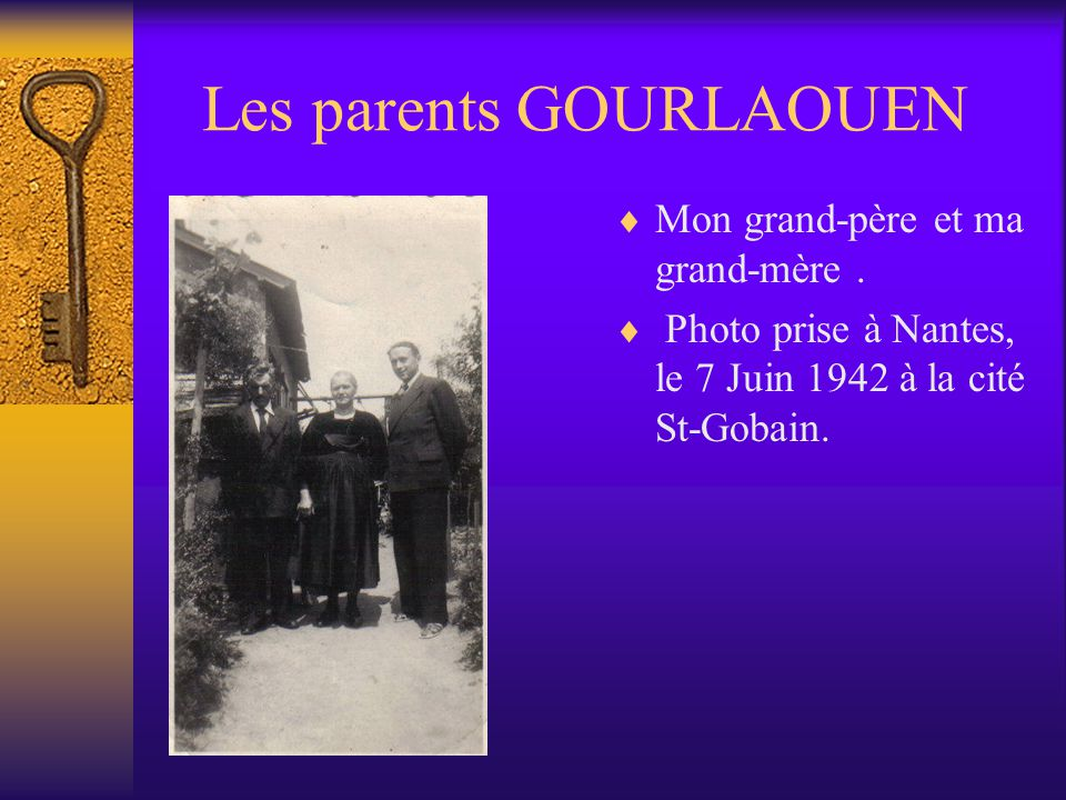 Les parents GOURLAOUEN