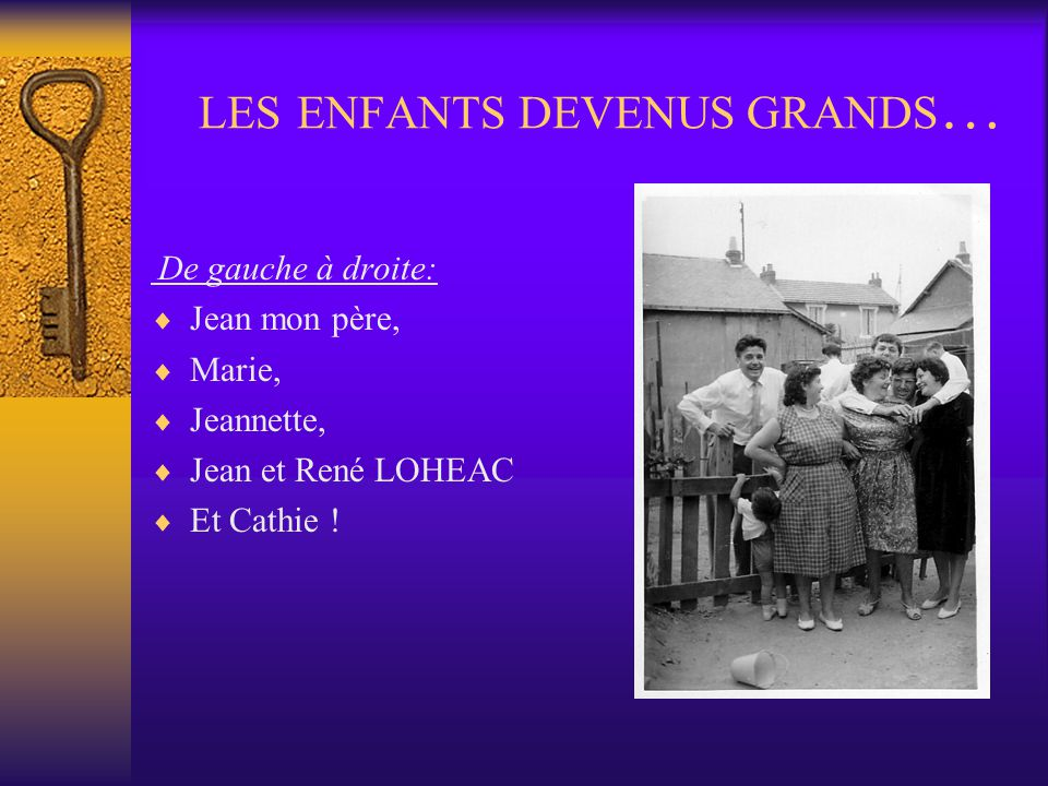 LES ENFANTS DEVENUS GRANDS…