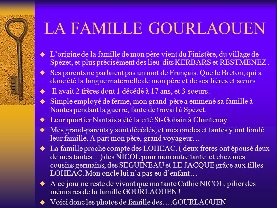LA FAMILLE GOURLAOUEN