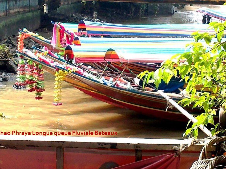 Chao Phraya Longue queue Fluviale Bateaux