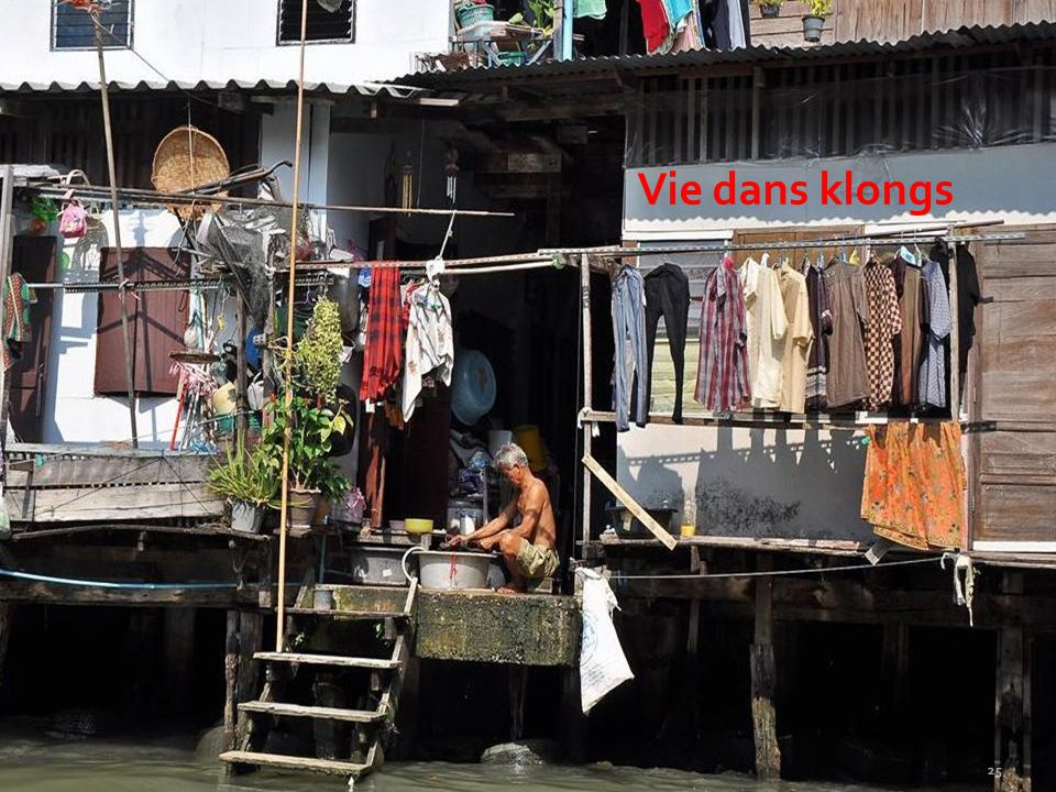 Vie dans klongs
