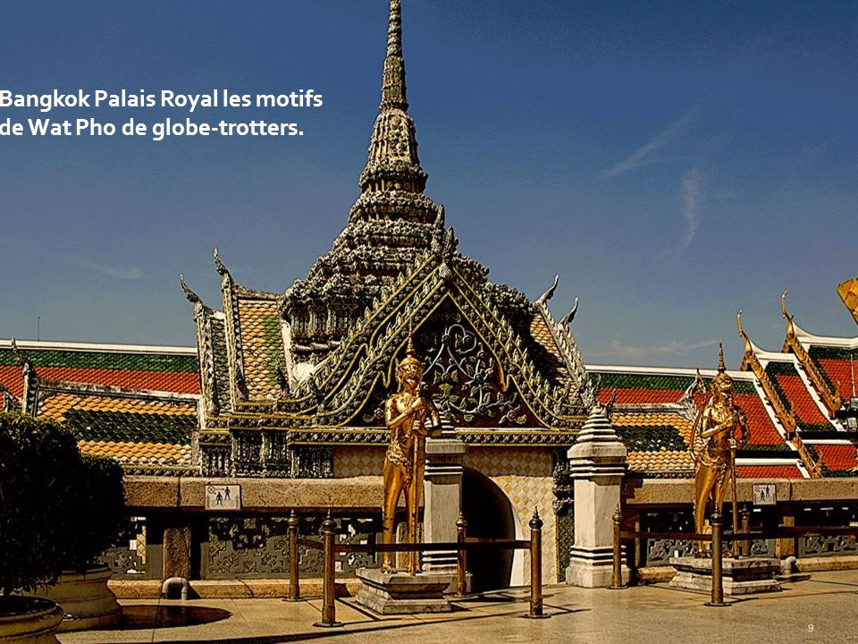 Bangkok Palais Royal les motifs de Wat Pho de globe-trotters.