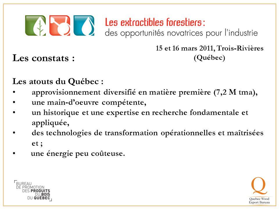 15 et 16 mars 2011, Trois-Rivières (Québec)
