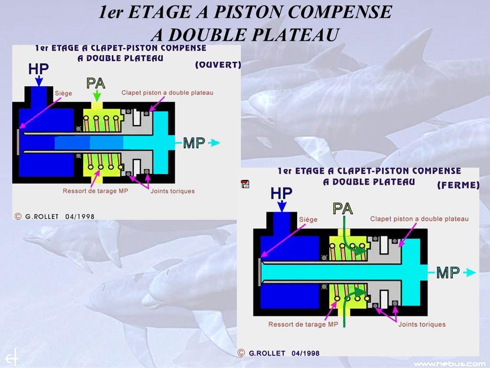 1er ETAGE A PISTON COMPENSE A DOUBLE PLATEAU
