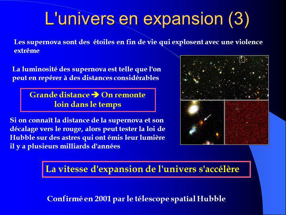 L univers en expansion (3)