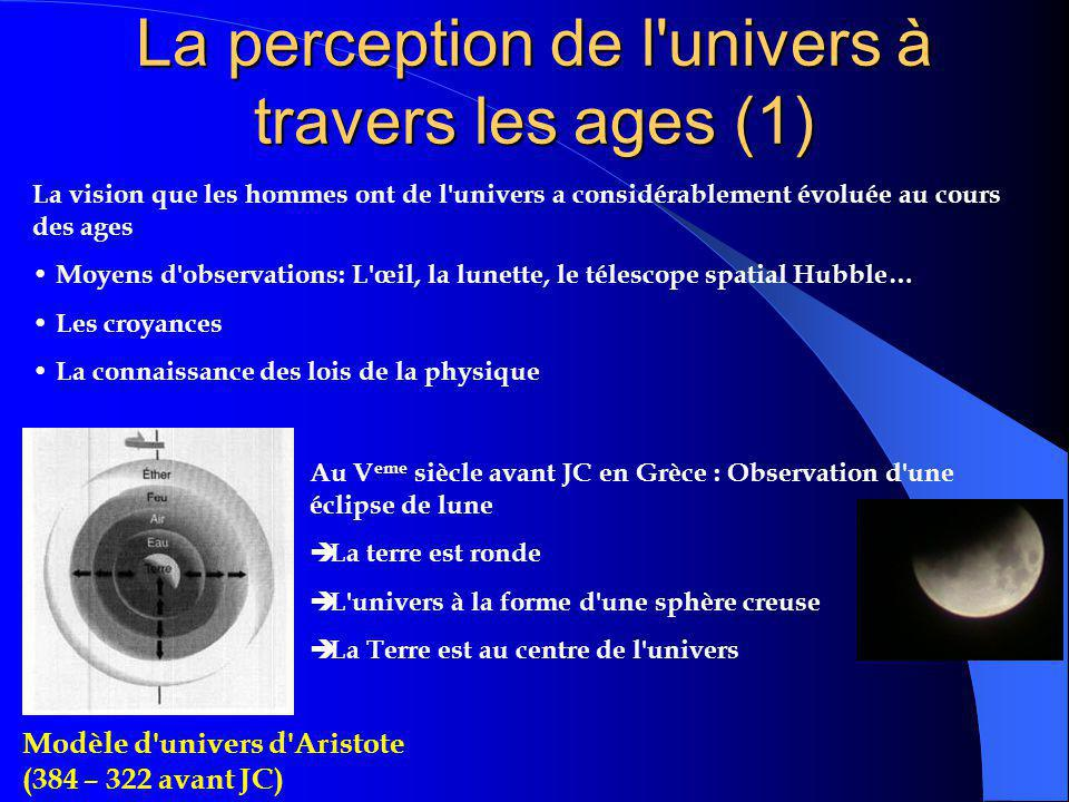 La perception de l univers à travers les ages (1)