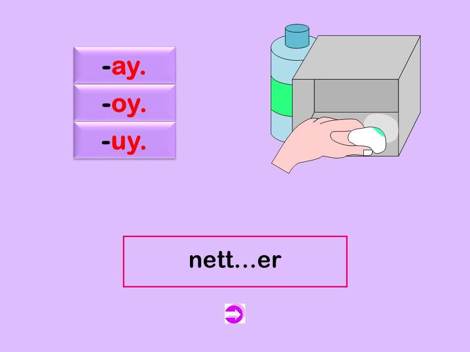 c -ay. -oy. -uy. nett…er nettoyer