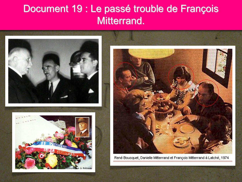 Document 19 : Le passé trouble de François Mitterrand.