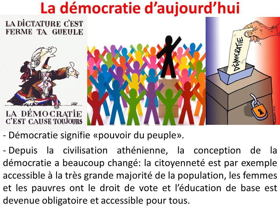 La démocratie d'aujourd'hui