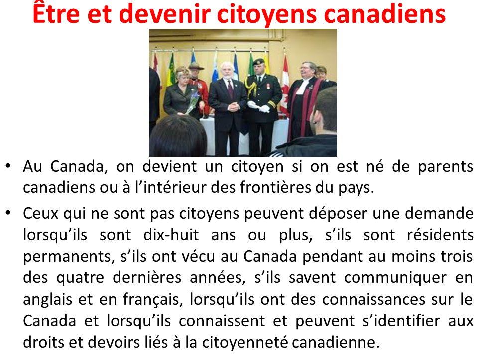 Être et devenir citoyens canadiens
