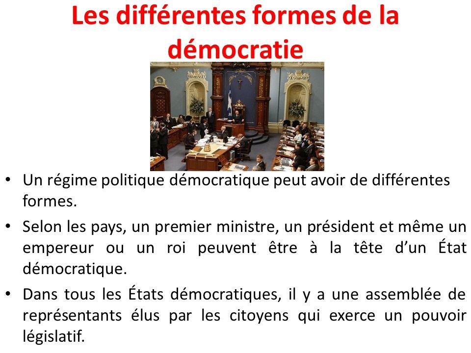 Les différentes formes de la démocratie