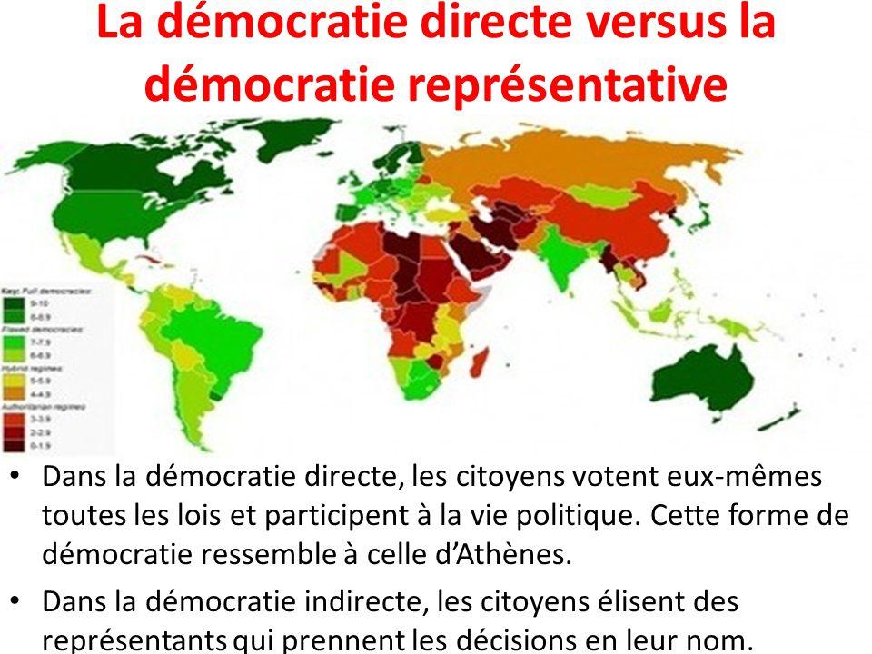 La démocratie directe versus la démocratie représentative