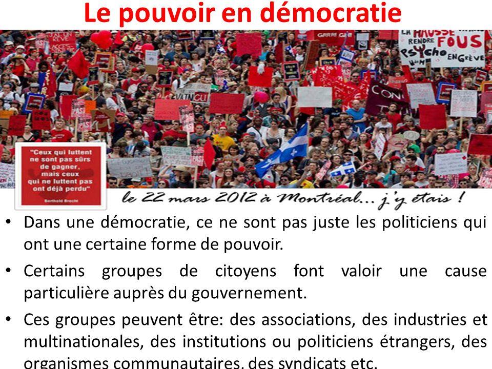 Le pouvoir en démocratie