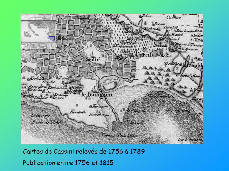 Cartes de Cassini relevés de 1756 à 1789