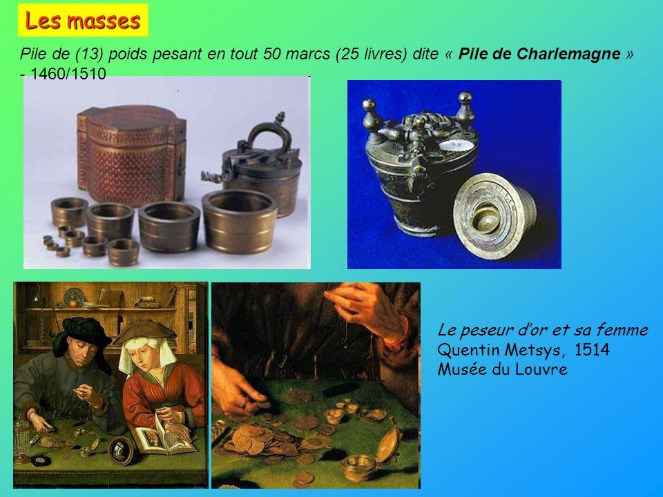 Les masses Pile de (13) poids pesant en tout 50 marcs (25 livres) dite « Pile de Charlemagne » - 1460/1510.