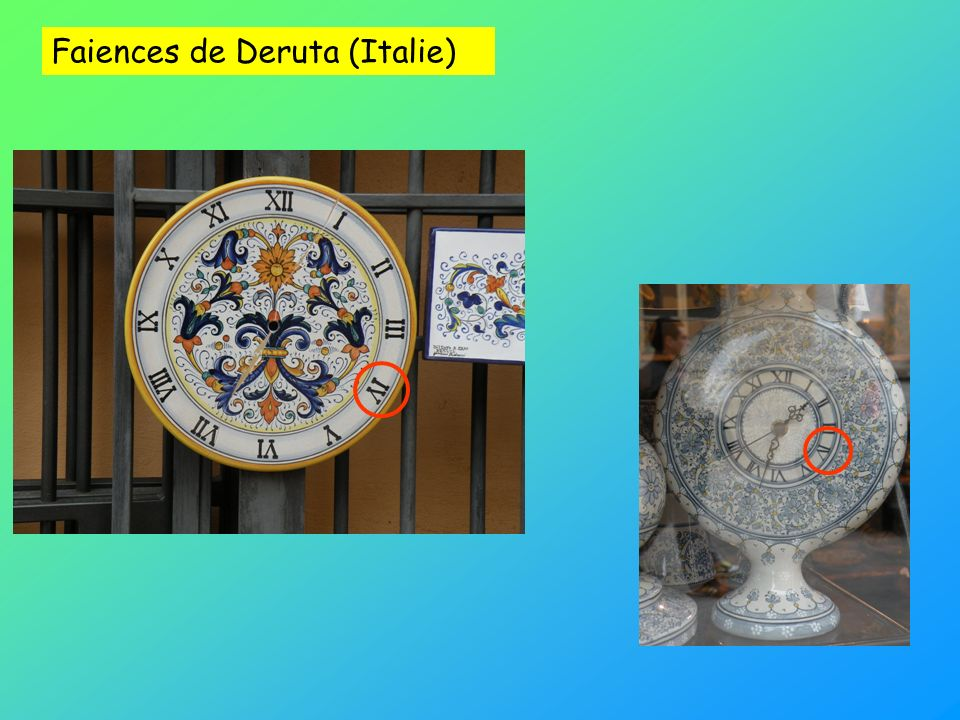 Faiences de Deruta (Italie)