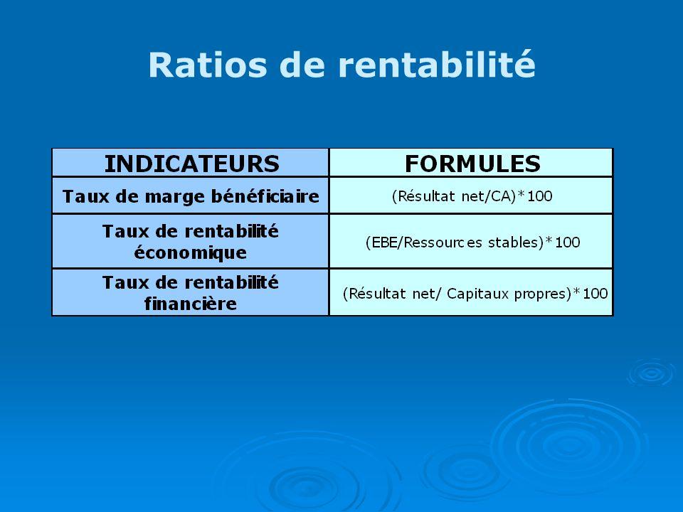 Ratios de rentabilité