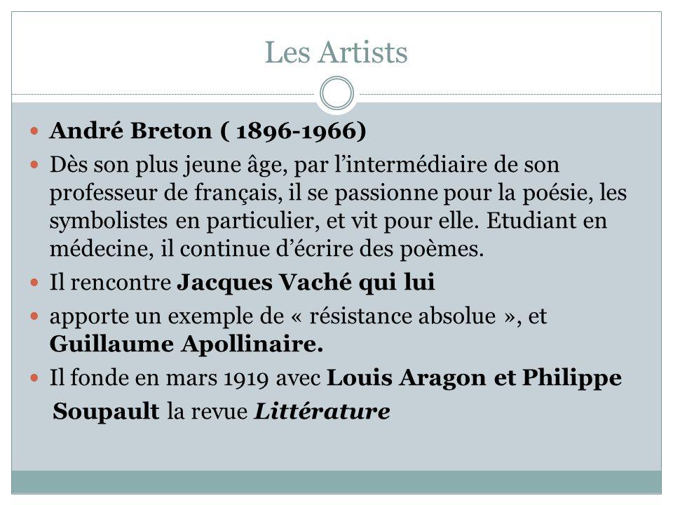 Les Artists André Breton ( 1896-1966)
