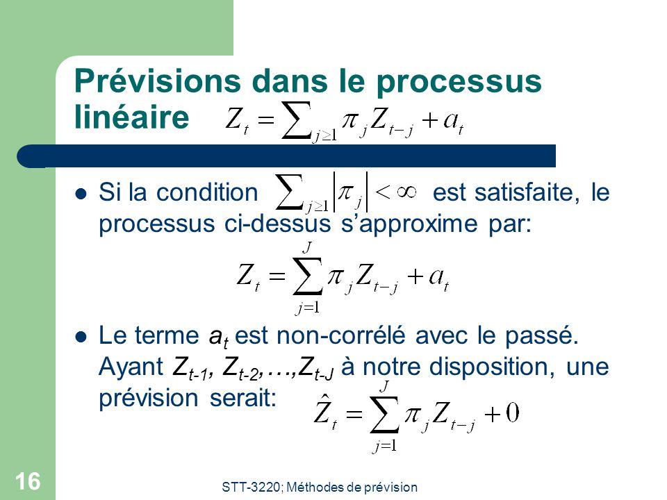 Prévisions dans le processus linéaire