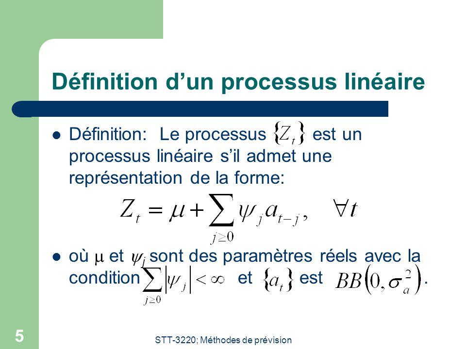 Définition d'un processus linéaire