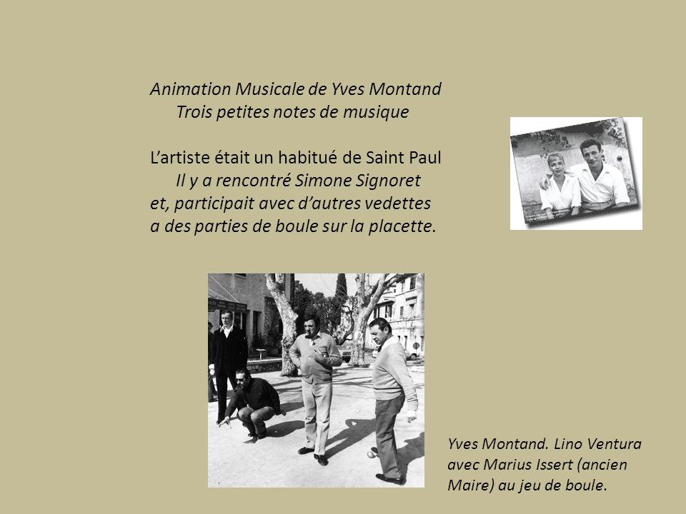 Animation Musicale de Yves Montand Trois petites notes de musique