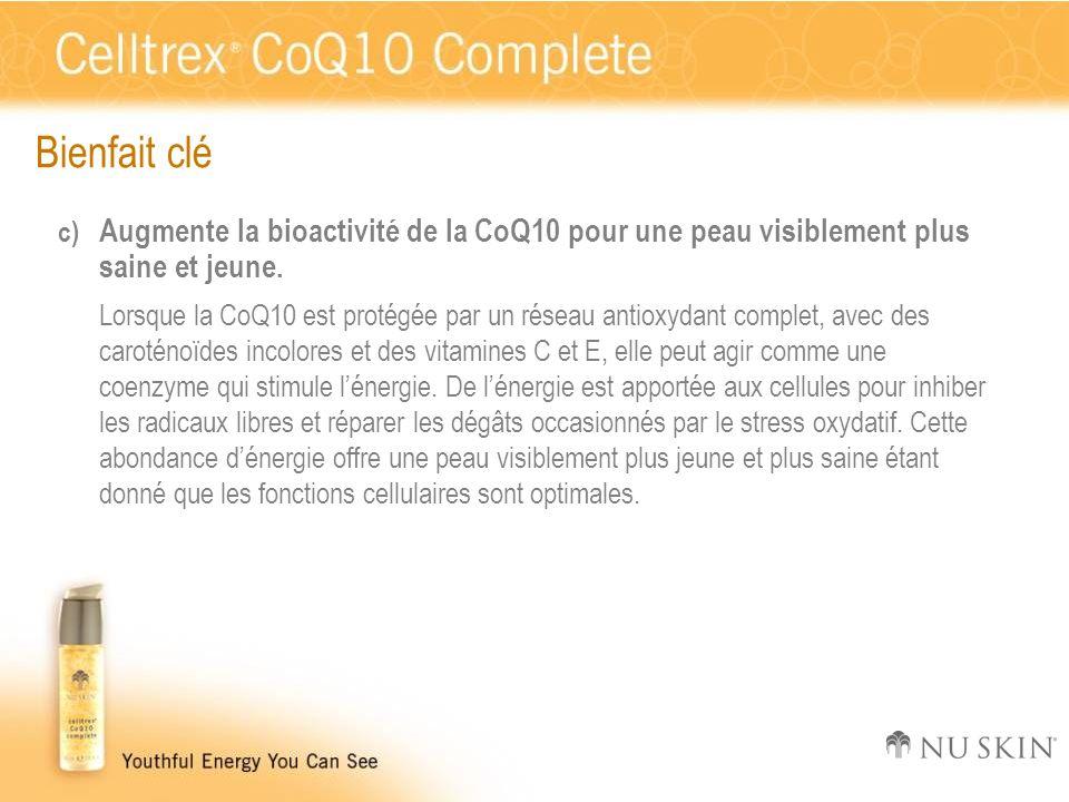 Bienfait clé Augmente la bioactivité de la CoQ10 pour une peau visiblement plus saine et jeune.