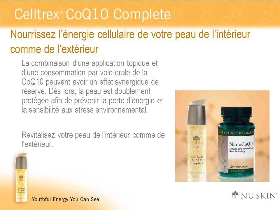 Nourrissez l'énergie cellulaire de votre peau de l'intérieur comme de l'extérieur