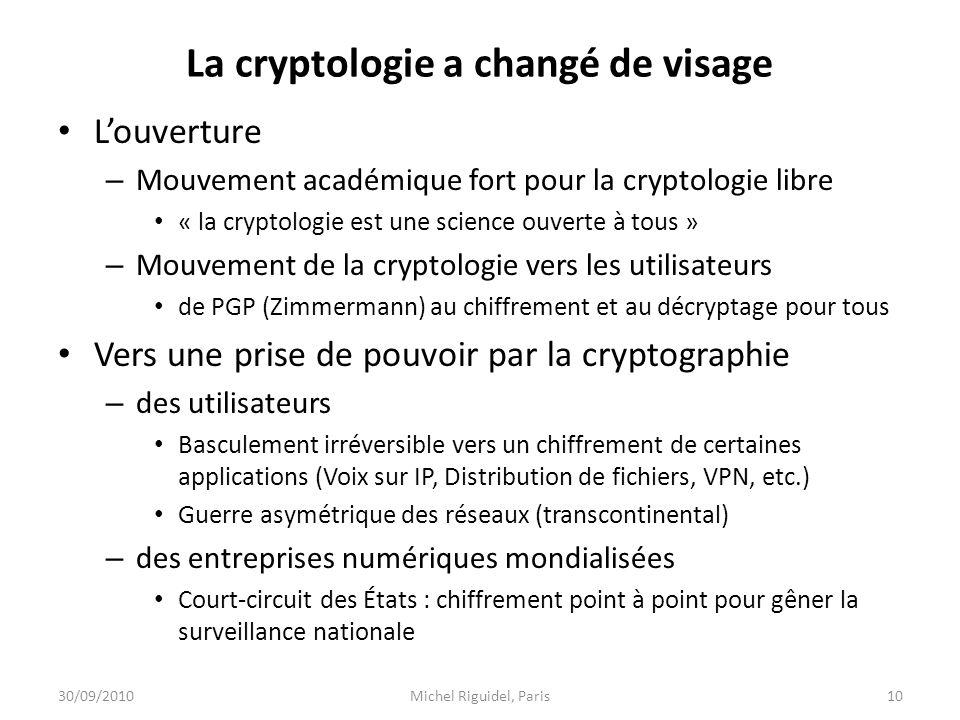 La cryptologie a changé de visage