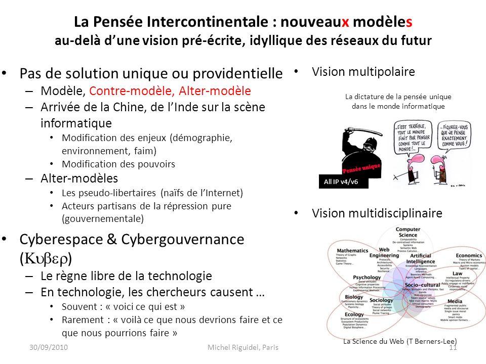 La Pensée Intercontinentale : nouveaux modèles au-delà d'une vision pré-écrite, idyllique des réseaux du futur