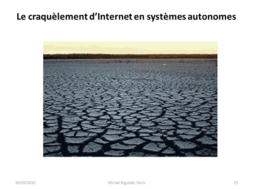 Le craquèlement d'Internet en systèmes autonomes