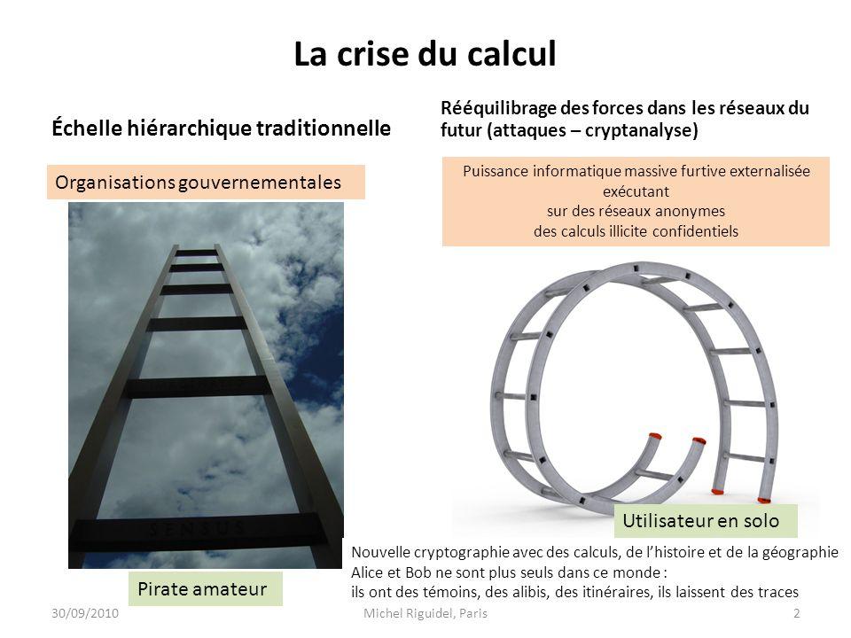 La crise du calcul Échelle hiérarchique traditionnelle