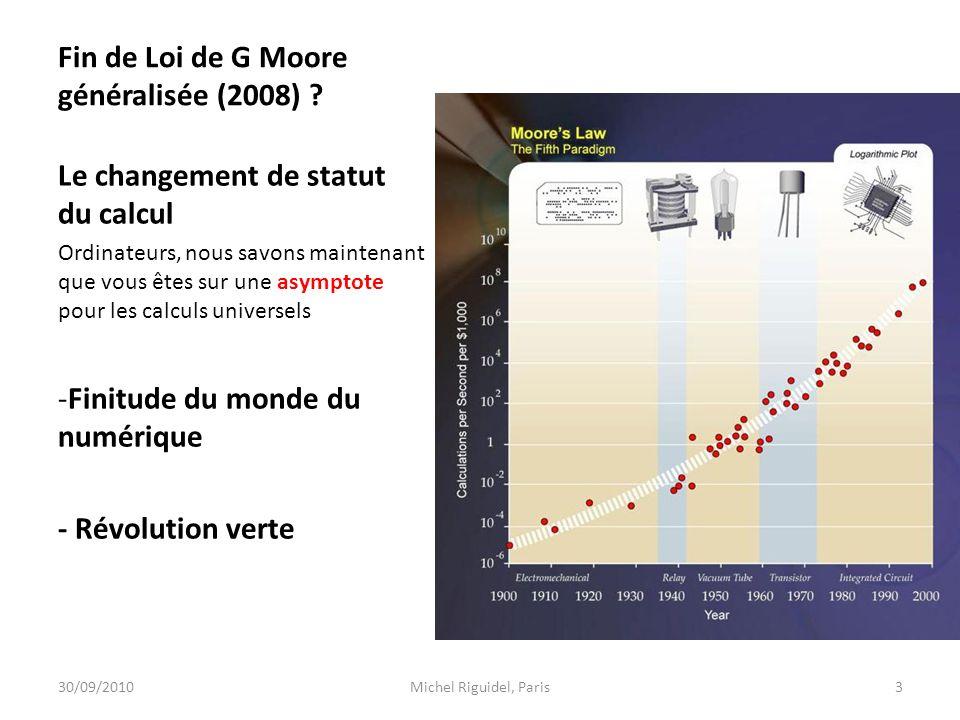 Fin de Loi de G Moore généralisée (2008)