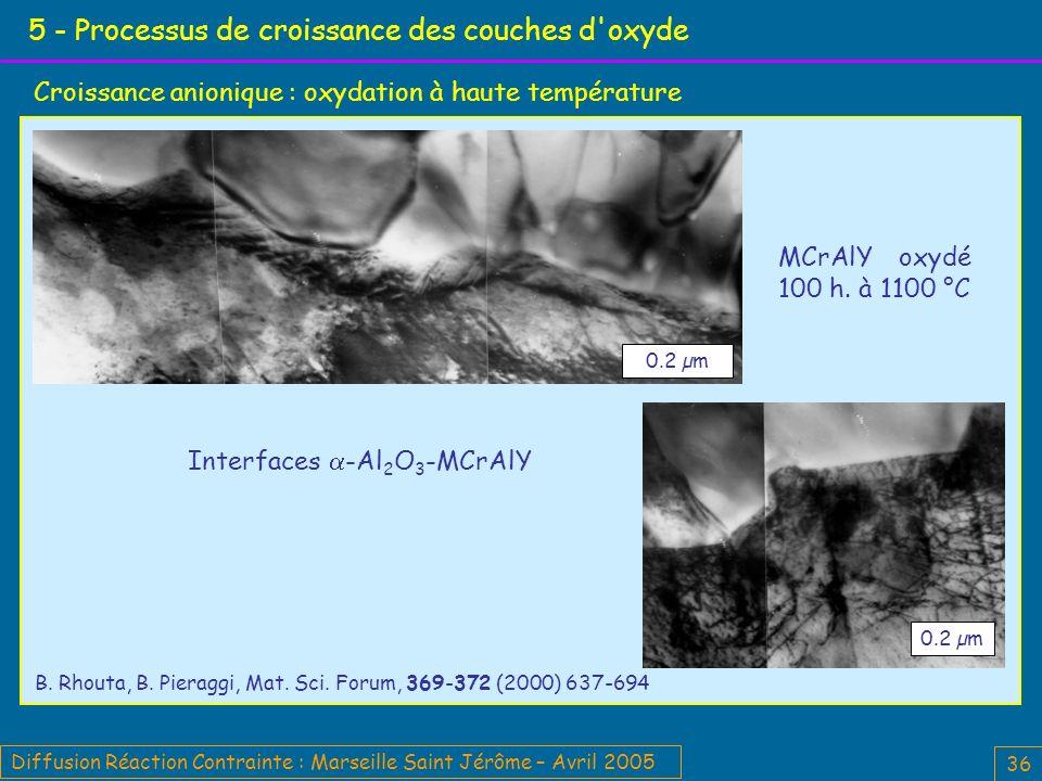 5 - Processus de croissance des couches d oxyde