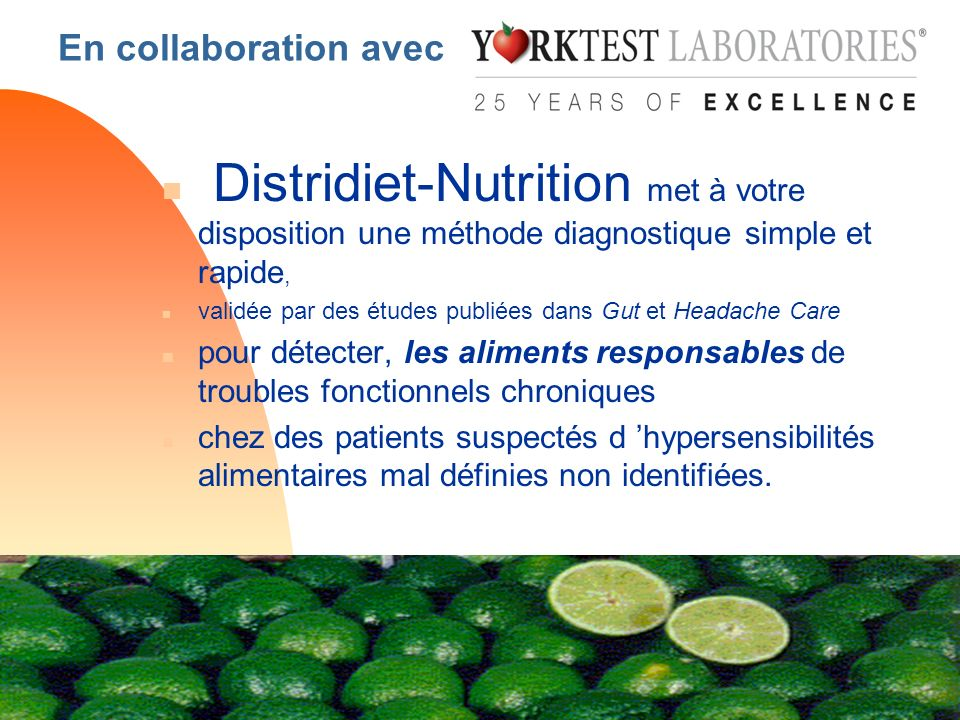 En collaboration avecDistridiet-Nutrition met à votre disposition une méthode diagnostique simple et rapide,