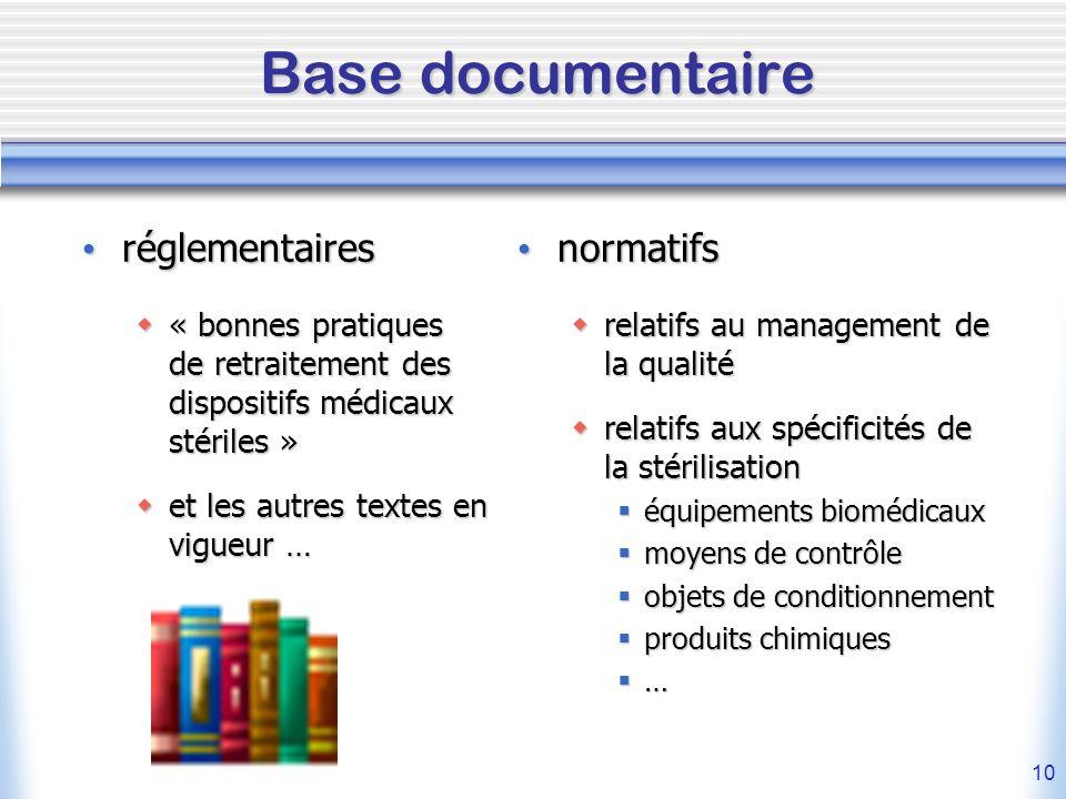 Base documentaire réglementaires normatifs