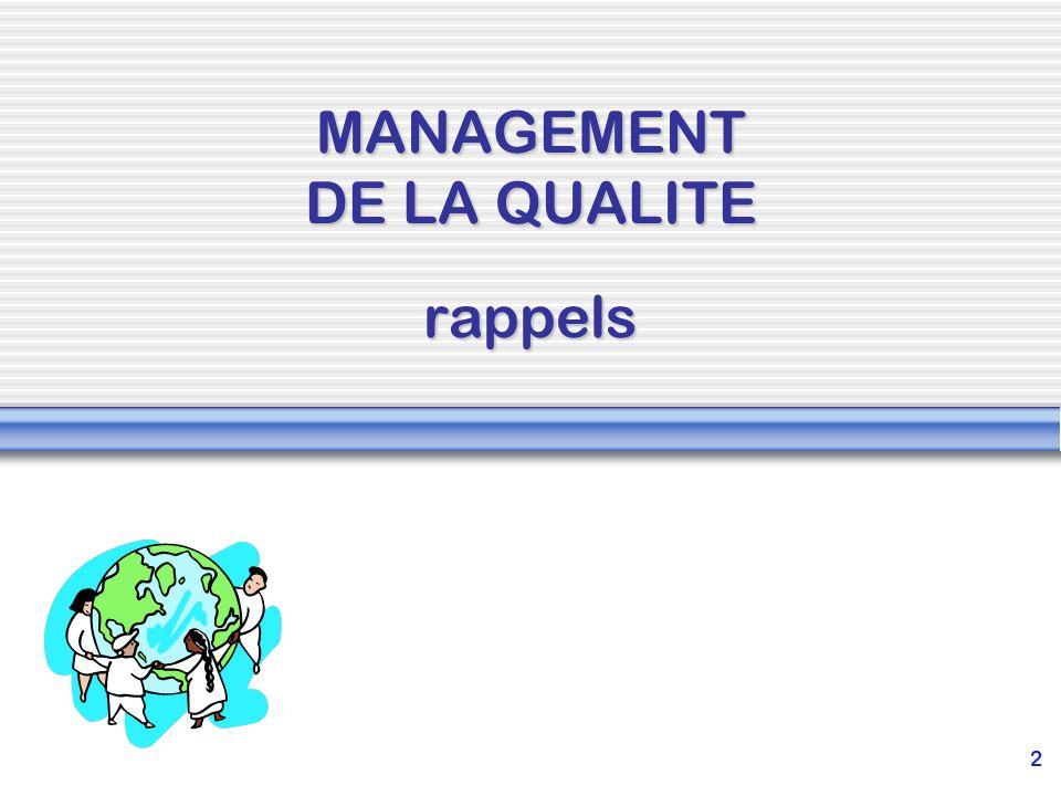 MANAGEMENT DE LA QUALITE rappels