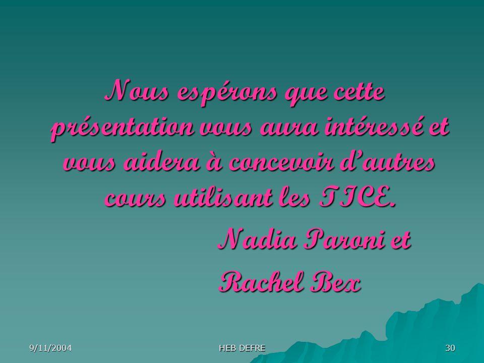 Nadia Paroni et Rachel Bex