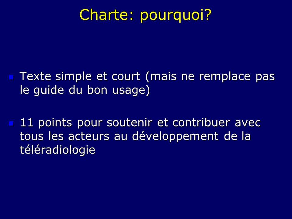 Charte: pourquoi Texte simple et court (mais ne remplace pas le guide du bon usage)